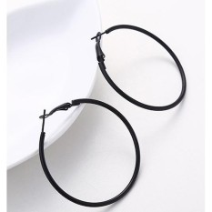 LRC Anting Hoop Fashion Round Shape Decorated Earrings (5Cm)