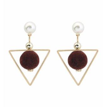 Diamond Alloy Stud Earrings. Source · LRC Anting Tusuk Fashion Black Fuzzy .