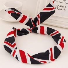 LRC Bando Sweet Black&red&white Stripe Pattern Simple Design