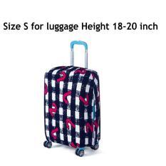 Koper Cover, Fabric Stretchable Tahan lama Luggage Cover Pelindung Dustproof untuk 18-20 inci Koper, Aksesoris Perjalanan(gaya: NUMBER-S)-Intl