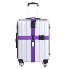 Review Luggage Strap Cross Sabuk Sabuk Adjustable Travel Koper Nylon Lock Intl Oem Di Tiongkok