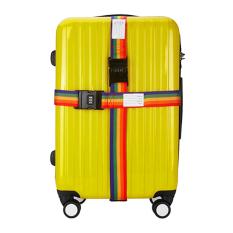 Tali Bagasi dengan Kunci Kombinasi Koper Bagasi Perjalanan Tie Sabuk Travel Luggage Packing Belt Keselamatan Sabuk Tali Koper Tali Pengaman