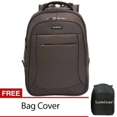 Obral Luminox Tas Ransel Laptop Expandable 5869 Backpack Up To 15 Inch Bonus Bag Cover Coklat Murah