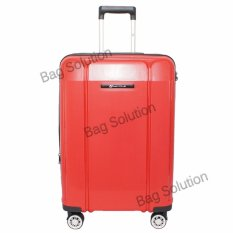 Navy Club Tas Koper Hardcase Fiber Pp 4 Roda Resleting Anti Tusuk Kunci Tsa 8009 Size 20 Merah Original