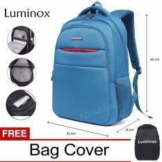 Luminox Tas Ransel Laptop Backpack Up to 15 inch Anti Air 5912 - Biru Bonus Jas Hujan