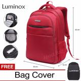 Spesifikasi Luminox Tas Ransel Laptop Backpack Up To 15 Inch Anti Air 5912 Merah Bonus Jas Hujan Murah
