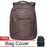 Jual Luminox Tas Ransel Laptop Tahan Air Tas Pria Tas Wanita 7705 Backpack Expandable Up To 15 Inch Bonus Bag Cover Coklat Original