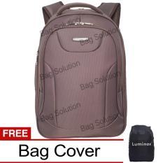 Luminox Tas Ransel Laptop Tahan Air Tas Pria Tas Wanita 7709 Backpack Expandable Up To 15 Inch Bonus Bag Cover Coklat Terbaru