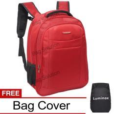 Beli Luminox Tas Ransel Laptop Tahan Air Tas Pria Tas Wanita 7722 Backpack Up To 15 Inch Bonus Bag Cover Merah Nyicil