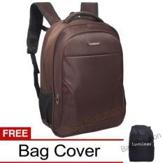 Harga Luminox Tas Ransel Laptop Tahan Air Tas Pria Tas Wanita 7723 Backpack Up To 15 Inch Bonus Bag Cover Coklat Baru Murah