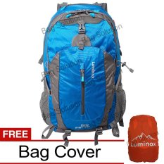 Jual Luminox Tas Hiking Backpack Ransel Travel Outdoor Carrier 5028 50 Liter Gratis Rain Cover Biru Muda Luminox