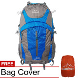 Luminox Tas Hiking Backpack Ransel Travel Outdoor Carrier 5036 50 Liter Gratis Rain Cover Biru Luminox Diskon