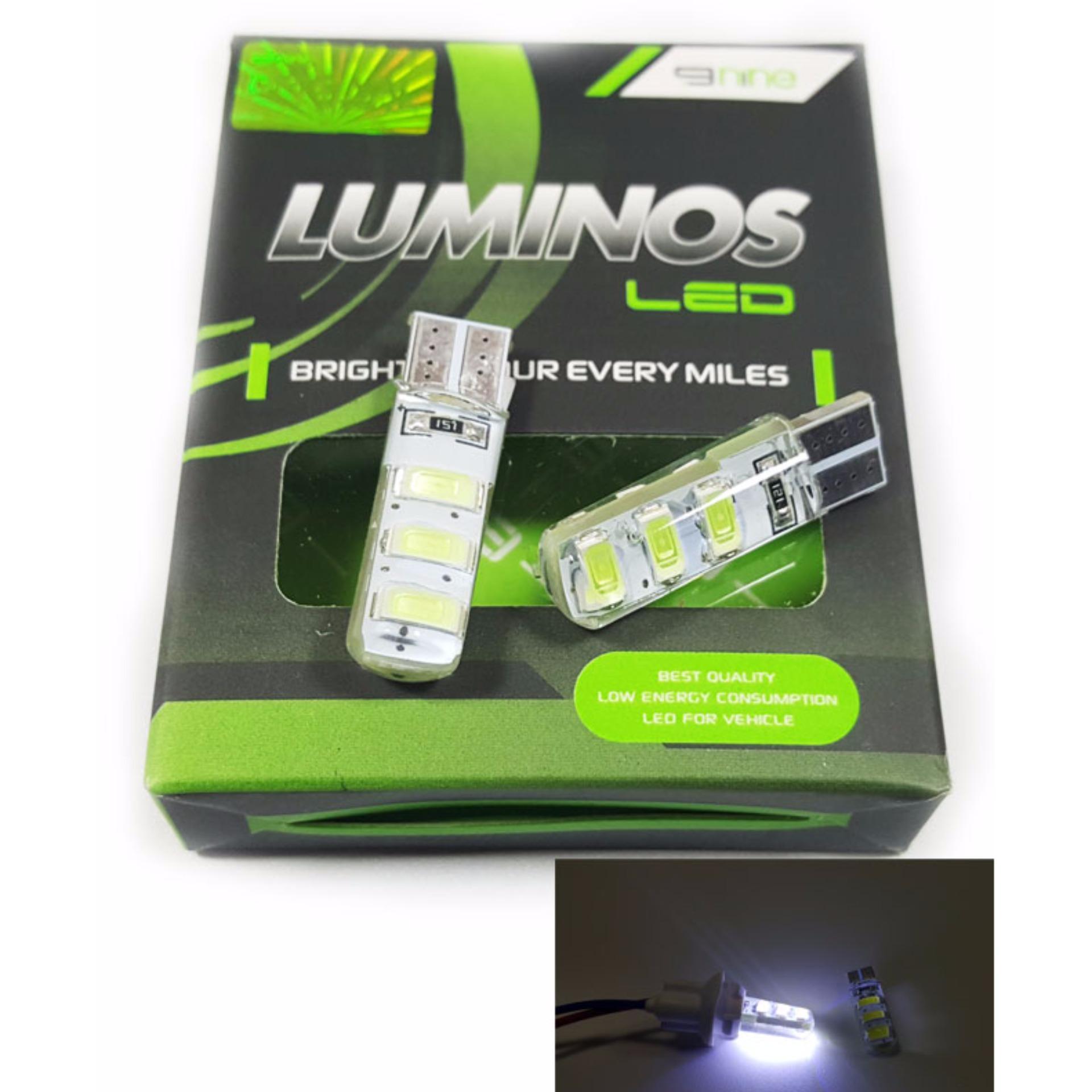 Dapat dipasang pada lampu senja atau kota mobil dan motor Lumios Led Senja Kota Motor Mobil T10 - Putih