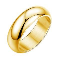 Lumiparty Modis Titanium Baja Cincin Warna Murni Dipoles Perhiasan untuk Pria Ukuran: 334 Emas No.10