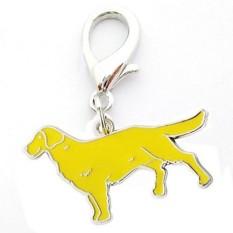 Lumiparty Logam Gantungan Kunci Anjing Lucu Anak Anjing Liontin Gantungan Kunci Gantungan Kunci Tas Wanita Pesona Hadiah Warna: Emas Retriever Spesifikasi: 2.5 Cm-Internasional