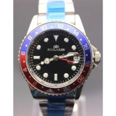 Luxe Gloednieuwe Heren Gent GMT Automatische Mechanische Horloges Rvs Dive Goud Zwart Zilver Draaibare Bezel Gents Horloge - intl