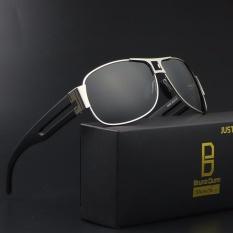 Beli Perancang Merek Mewah Penerbangan Sunglasses 2017 Pria Berjemur Kacamata Pria Oculos Aviador De Sol Masculino Gafas Asli Dengan Kotak 8459 Silver Frame Lensa Hitam Intl Murah