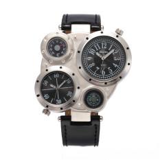 Beli Barang Merek Mewah Oulm Pria Sport Wirstwatches Pria Watch Quartz Leather Watch Hitam Online