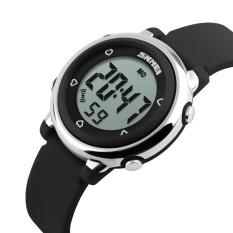 Situs Review Skmei Colorful Led Digital Anak G*rl Black Silicone Strap Sports Watches Mahasiswa Fashion Jam Tangan 1100 Skmei Asli Hitam Intl