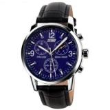 Spesifikasi Mewah Merek Skmei Jam Tangan Pria Kuarsa Digital Pu Kulit Casual Watch Tahan Air 30 M 9070 Black Blue Online