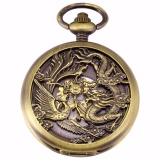 Spesifikasi Mewah Hollow Dragon Case Hunter Romawi Steampunk Skeleton Craft Mechanical Pocket Watch Jewel Rantai Tangan Rising Flour Wpk230 Jam Tangan Pria And Wanita Intl Oem Terbaru