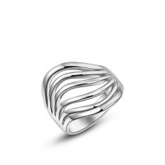 Mewah Bergaya Platinum Berlapis Diamond Hadiah Ulang Tahun Perhiasan Cincin (Platinum Warna)