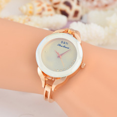 Toko Luxury Kulit Strap Diamond Perempuan Lady Kasual Quartz Watch Oem Online