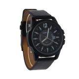 Toko Luxury Men S Analog Sport Steel Case Quartz Tanggal Leather Wrist Watch Hitam Curren