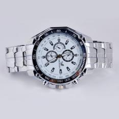 Beli Luxury Men S Fashion Stainless Steel Band Sport Quartz Bisnis Og Watch Jam Tangan Putih Pake Kartu Kredit