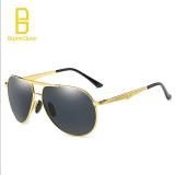 Diskon Bruno Dunn Perancang Merek Mewah Polarized Sunglasses Titanium Original Pria Berjemur Kacamata Untuk Pria 194 Bingkai Emas Lense Hitam Tiongkok