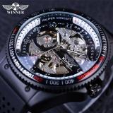 Beli Winner Jam Tangan Pria Mekanik Otomatis Bahan Perak Relojes Hombre Model Berongga Gaya Mewah Nyicil