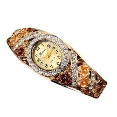 LVPAI Jual Hot Fashion Wanita Mewah Watches Wanita Gelang Gelang Coklat-Internasional