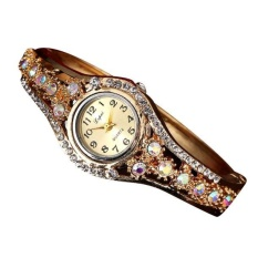 LVPAI Jual Hot Fashion Wanita Mewah Watches Wanita Gelang Gelang Rose Emas-Intl