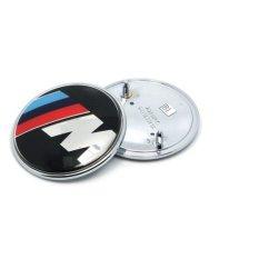 Lvzhi 1 Pcs Car Hood Emblem 82Mm Aluminium 2 Pin Logo Depan Atau Belakang Lambang Simbol Roundel For Logo Mobil Bmw E46 E39 E90 E60 Terbaru