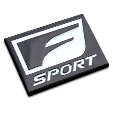 Lvzhi F SPORT Stiker Logo Mobil 3D Logam Emblem Refitting BadgeSticker Mobil Styling Auto Dekorasi Aksesoris untuk Lexus RX ES IS-Intl