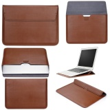 Dimana Beli Lyball Case Lengan With Stand Fungsi To Apple Macbook13 Inch Ultrabook Dompet Sleeve Carry Bag Pu Leather Cover Case Laptop Carrying Bag With Saku Belakang Desain To Apple Macbook 13 3 Air 13 Pro13 A1278 Brown Lyball