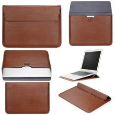 Jual Beli Lyball Case Lengan With Stand Fungsi To Apple Macbook13 Inch Ultrabook Dompet Sleeve Carry Bag Pu Leather Cover Case Laptop Carrying Bag With Saku Belakang Desain To Apple Macbook 13 3 Air 13 Pro13 A1278 Brown