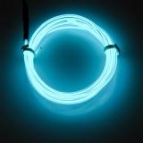 Lychee Neon Glowing Strobing Electroluminescent Light El Wire Halloween Dekorasi Es Biru 3 M Intl Oem Diskon 30