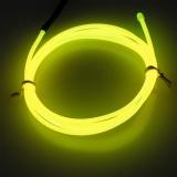 Miliki Segera Lychee Neon Glowing Strobing Electroluminescent Light El Wire Dekorasi Halloween Kuning 3 M Intl