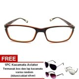 Harga Lyn S Glasses Kacamata Korea Style Kc442 Kacamata Wanita Cokelat Free Kacamata Aviator Termasuk Kotak Kacamata Dan Lap Kacamata Satu Set
