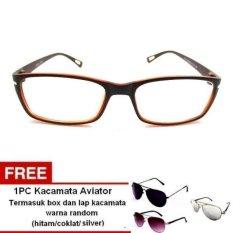 Spesifikasi Lyn S Glasses Kacamata Korea Style Kc442 Kacamata Wanita Cokelat Free Kacamata Aviator Termasuk Kotak Kacamata Dan Lap Kacamata Baru