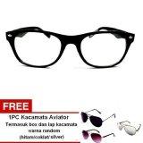 Promo Lyn S Glasses Kacamata Korea Style Kr308 Kacamata Unisex Hitam Free Kacamata Aviator Termasuk Kotak Kacamata Dan Lap Kacamata Murah