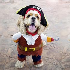 LZ Halloween Gaya Bajak Laut Kostum Anjing dengan Tengkorak Topi Lucu Dogclothing L Multicolor