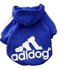LZ PET Sweter Anjing Kucing Puppy T Shirt Hangat Mantel Berkerudung Clothesapparel-Xxl.Blue