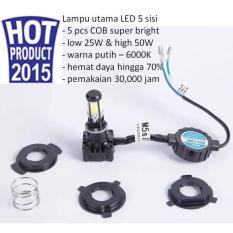 M5S Lampu Utama LED 5 Sisi Universal Segala Jenis Motor - 1 Pcs