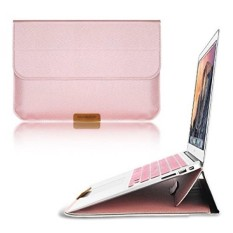 Jual Macbook 12 Inch Case Sleeve With Stand Function Swees 12 Inch Apple New Macbook Ultrabook Wallet Sleeve Pu Leather Cover Case Laptop Carrying Bag With Rear Pocket Design Rose Gold Intl