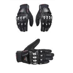 Madbike Mad 10C Hitam Sarung Tangan Sepeda Full Batok Stainless Motor Touring Tour Bikers Bike Gloves Sports Outdoor Madbike Diskon 50