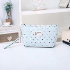 Dibuat Di Korea MANGGA MANIS IKONIK Comely Makeup Pouch Bag Organizer Bag In Bag Handbags Tas untuk Wanita Makeup Organizer Pouch Bag Cosmetic Pouch Kosmetik Penyimpanan Makeup Bag (hijau Muda) -Intl