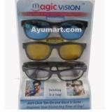Jual Magic Vision Bergaya Sunglass Dengan Quick Change Magnet Lensa Intl Satu Set