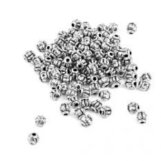 MagiDeal 100 Pcs Barang Antik Paduan Perak Labu Pengatur Jarak Manik-manik 4mm-Intl